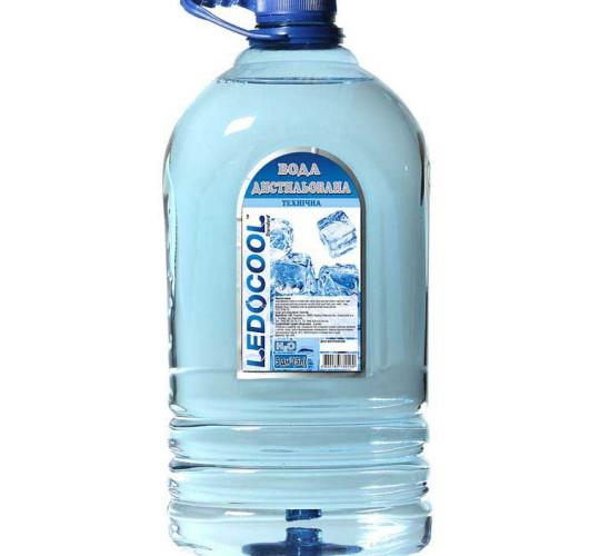 Дистиллированная вода ТМ LedoCool 5л
