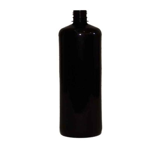 ПЭТ бутылка «бочка» черная 1000 мл.