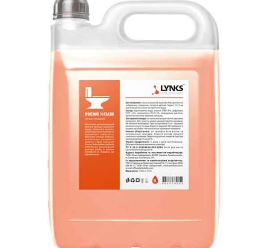Очиститель унитазов ТМ LYNKS LABORATORIES 5 л.