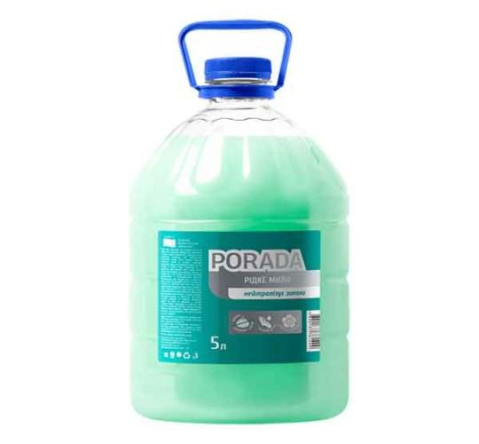 Жидкое мыло для избавления от запаха с ароматом мяты ТМ PORADA 5 л.