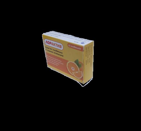 ЛОРАКТИВ (трав'яні льодяники зі смаком апельсину)